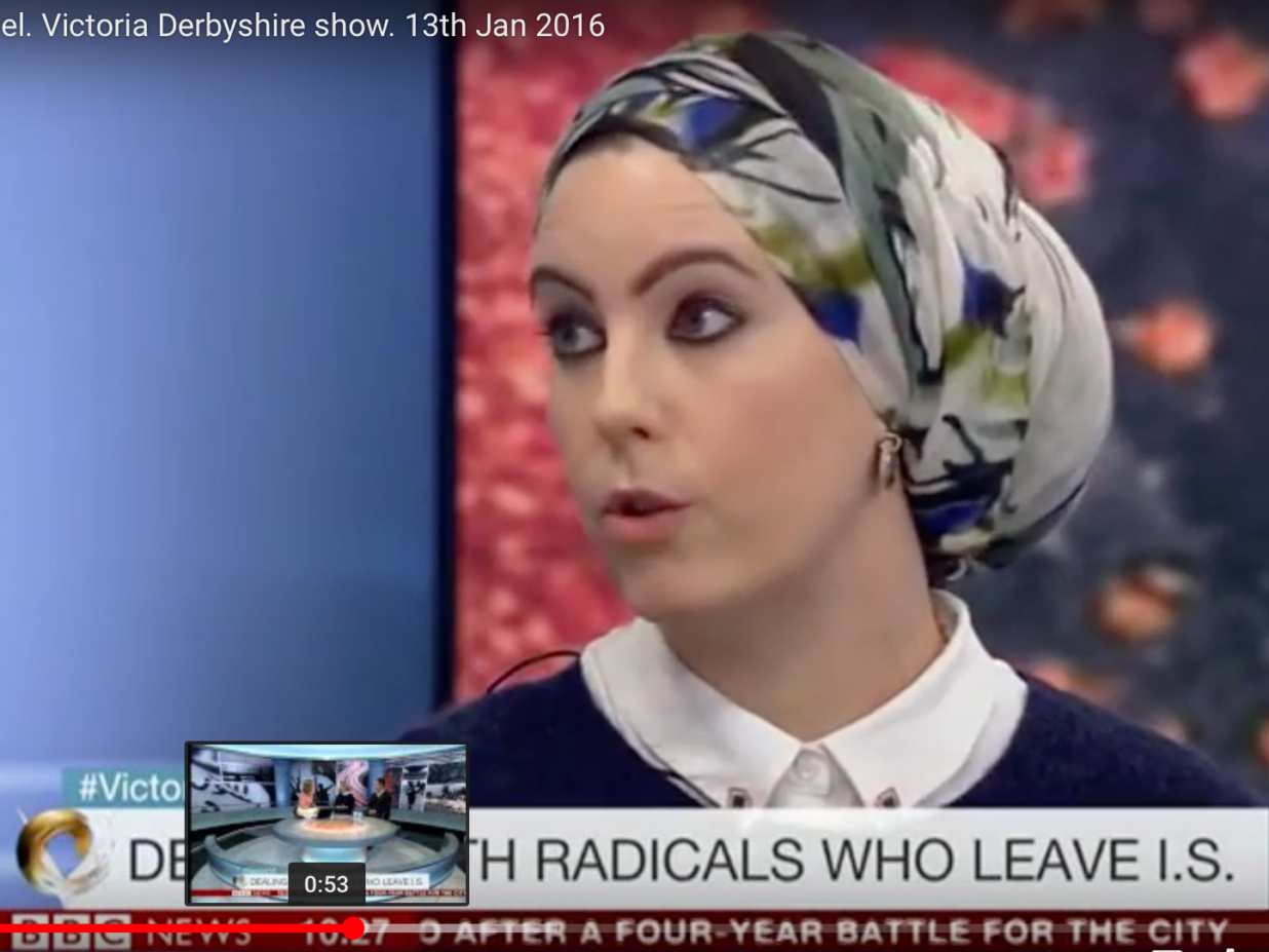 Laura Zahra McDonald, BBC 1, Victoria Derbyshire show. 13th Jan 2016